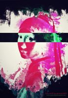 The Girl with a Pearl Earring colorful by Peace4all