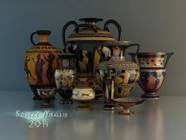 Greek pottery by kosv01