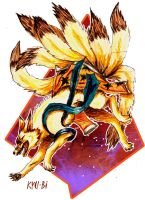 nine tails fox by Mikan-no-Tora