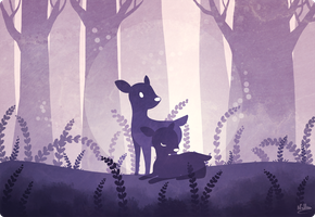 Little Fawns by drawingum