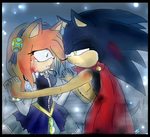 Nimue and Knight .:Sonamy:. by Klaudy-na