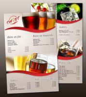 Twist Restaurant drinks menu by neverdying