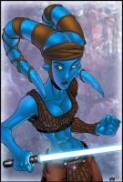Aayla Secura by Team Lattie by richmbailey