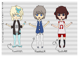 Social Media Adopts [ 01 ] by acidicapple