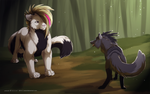 com_cougar and wolf by azzai