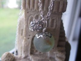 Sea Glass Marble Necklace by Katlynmanson
