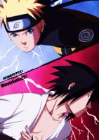 Naruto VS Sasuke by humbertox1