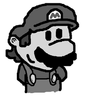 Black and White Mario by Nintooner
