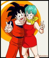 Goku and Bulma Bff's by dbzsisters