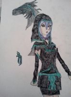 Celeste Aoki Dark Predestinated style - Oc by Grifessa