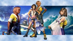 Tidus and Yuna Wallpaper by sweetangelookami