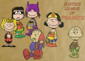 Justice League of Peanuts by corinotec