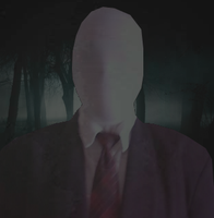 The Slenderman in the dark by TheRainbowMess