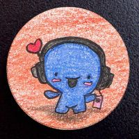 Hand Drawn Buttons - Happy Man by gippentarp