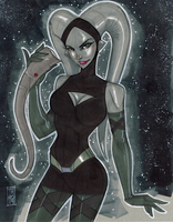 Twilek Vanessa from Phineas and Ferb Star Wars by Hodges-Art