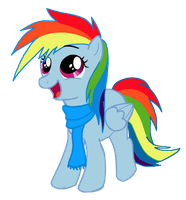 Dashie Filly by WolfsKnight
