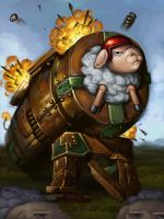 Exploding Sheep Launcher by teriopi