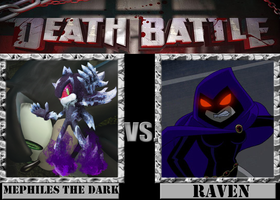 Mephiles The Dark VS. Raven by Grimmjow-thesexta