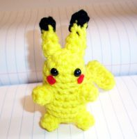 Small Pikachu Crochet Plush by happysquidmuffin