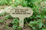 sign in the garden by funnymonkey820