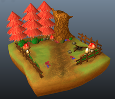 Low Poly Forest - trial by buckatone