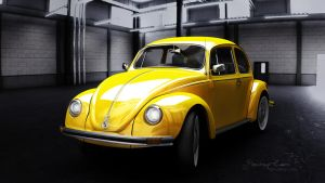 VW Beetle by Painting-Caro