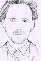Tom Hiddleston Sketch by TopazBlitz
