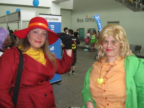 Carmen Sandiego and Patty Larceny at Otakon 2013 by MaryRyanBogard