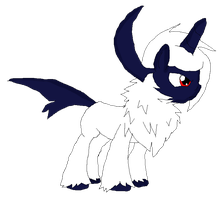 Absol As A Pony by GoldenScar