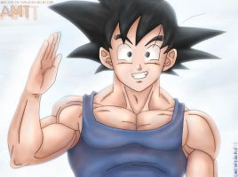DBZ: - Goku - by Amaterasu-kun
