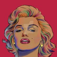 monroe in colors by yasserian