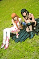 Kasumi and Lei Fang Dead or alive cosplay by xRika89x