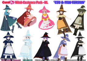ComiPo Witch Costumes Pack - DL by AKIO-NOIR