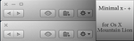 Minimal x-+ buttons for mountain lion by rhubarb-leaf