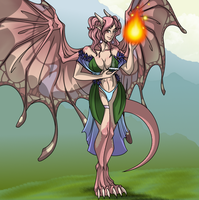 The Half Faerie Dragon Opal- Pathfinder by Mehetabel