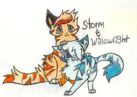 Storm and Willowlight by FuneralDyingheart