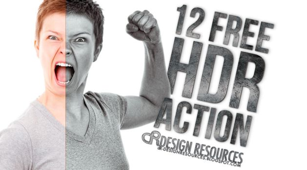 12 Free HDR Actions by FakeFebruary