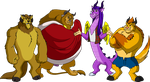 Commission - LKHFF Leaders as Beasts by BennytheBeast