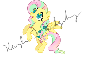 Crystal Empire Fluttershy by kaylathehedgehog