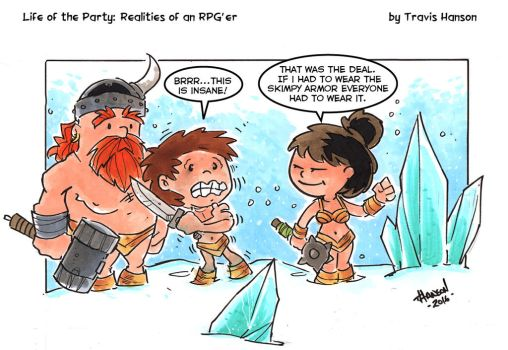 snow battle gear :RPG Comic by travisJhanson