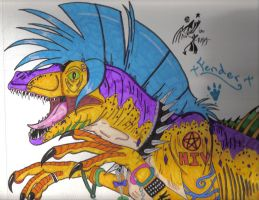 Fender the rave raptor by dyingbreed666