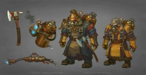 Allods: Flamethrower Orks by Sokil-Su