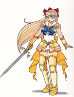 Elegant Warrior Sailor Venus by Enkai
