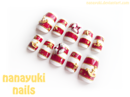 anchors aweigh nail set by Nanayuki