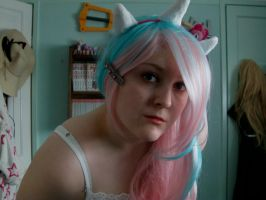 Cosplay ears and horn by DappleHeartPlush