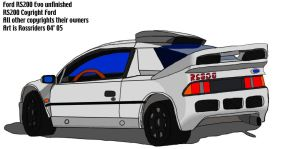 Ford RS200 evo unfinished by rossriders