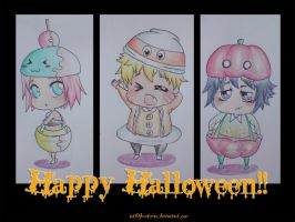 team 7 chibi: trick or treats by zvrn