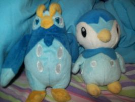 Piplup and Prinplup by WhitePearlVoice