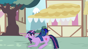 nico's first encounter of twilight sparkle by nicoflare
