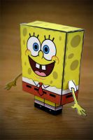 CubeCraft Sponge Bob by digital-uncool